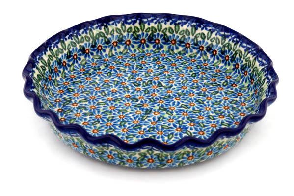 10  Fluted Pie Dish UNIKAT #H7889F  sc 1 st  Ceramika Artystyczna Polish pottery from Boleslawiec & 10
